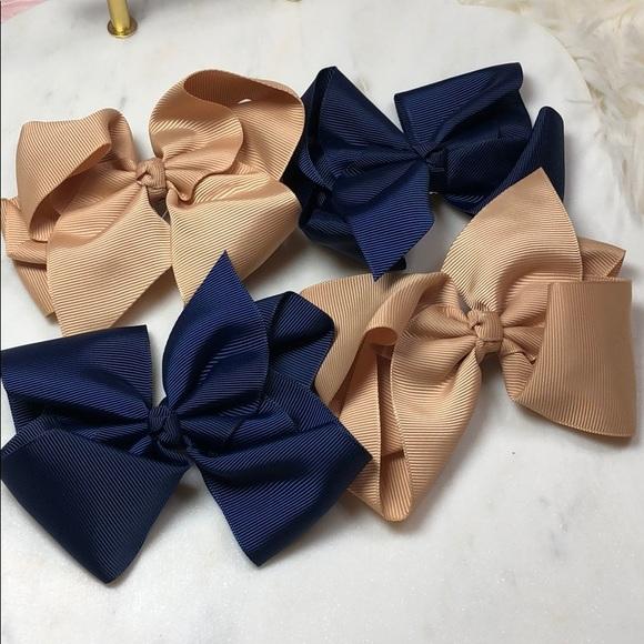Matches Uniform Brownies hair bow clip handmade